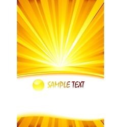 sunburst card template vector image vector image