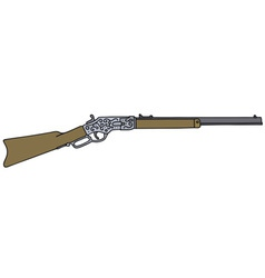 Vintage american rifle vector