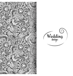 Wedding invitation card with white space and vector image