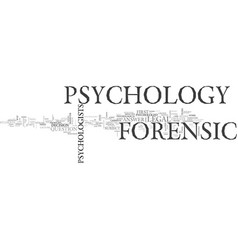What is forensic psychology text word cloud vector