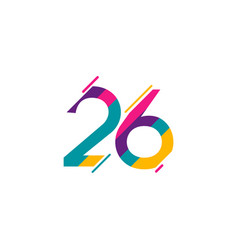26 years anniversary celebration template design vector