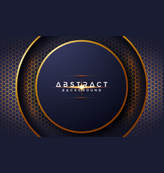 abstract luxurious modern 3d circle background vector image