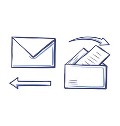 arrows and correspondence pointers set vector image