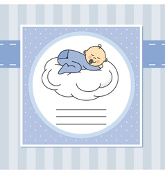 Baby sleeping on the moon vector