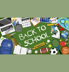 back to school sale banner template design vector image
