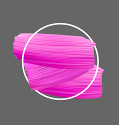 Background with pink paint brush strokes vector