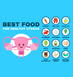 Best food for strong uterus strong healthy vector