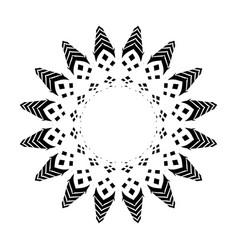 Black tribal tattoo 0015 vector