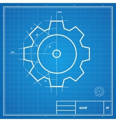 Blueprint gear card vector