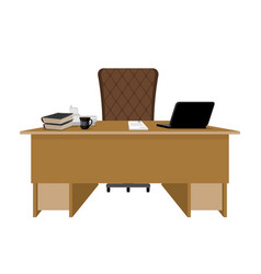 Business office boss table leader supervisor vector
