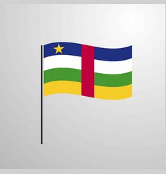 central african republic waving flag vector image