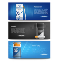 Cigarette packs realistic banners vector