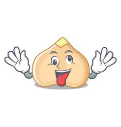 Crazy chickpeas mascot cartoon style vector