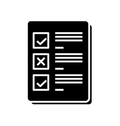 Daily planner black icon concept vector