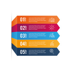 Data infographic with graphic business information vector