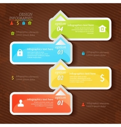Design infographics four successive options with vector image