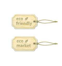 Eco tags set 14 vector image