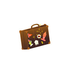 flat vintage travelling bag vector image