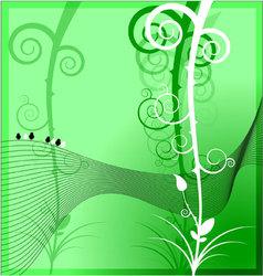 Framework nature background vector image