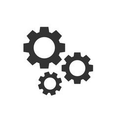 Gear icon in flat style cog wheel on white vector