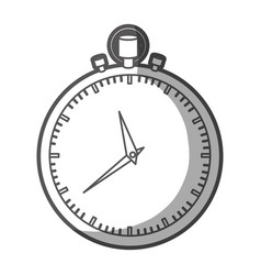 grayscale silhouette of simple stopwatch vector image