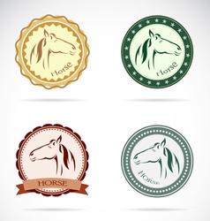 Horse labels vector