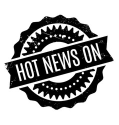 hot news on rubber stamp vector image