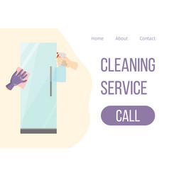 house cleaning services web template hand vector image