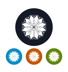 Icon of a Snowflake vector