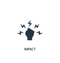 Impact icon simple element impact vector