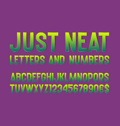 Just neat letters and numbers with currency signs vector