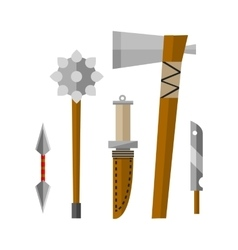 Knifes and hand weapon vector image