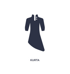 Kurta icon on white background simple element vector