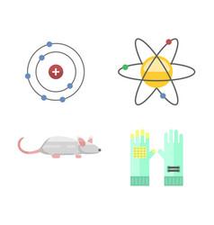 lab symbols test medical laboratory scientific vector image