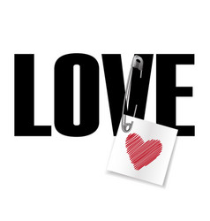 love t-shirt fashion print vector image