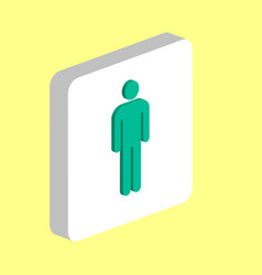 man male computer symbol vector image