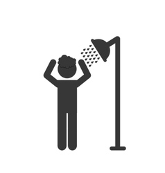 Man taking shower vector