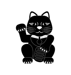 maneki neko lucky cat vector image