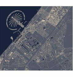 Map city dubai united arab emirates uae vector