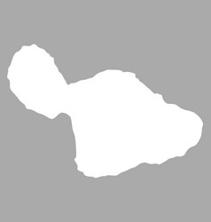 Map of maui vector