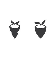 Mask west icon vector