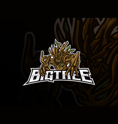 monster tree mascot esport logo design vector image