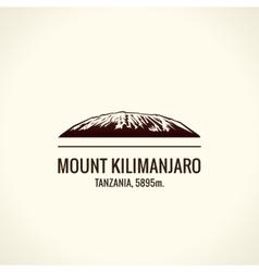 Mountain tourist logo emblem mount vector