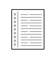 Notebook leaf isolated icon vector