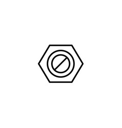 nut bolt icon vector image