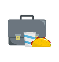 office lunch icon flat style vector image