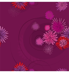 pattern of the pink flowers vector image