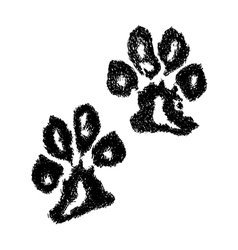 Paw print Animal paw Dog paw vector