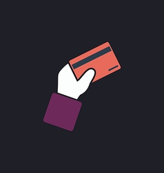 payment card computer symbol vector image