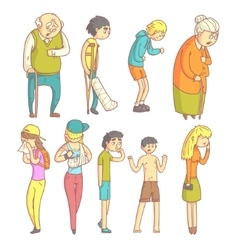 People With Different Illnesses vector